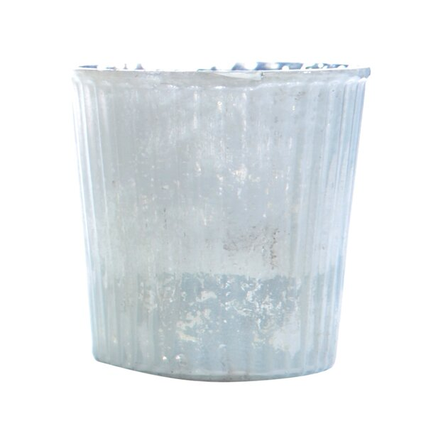 DwellStudio Striped Milk Glass Votive