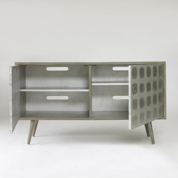 DwellStudio Franklin Silver Leaf Media Cabinet