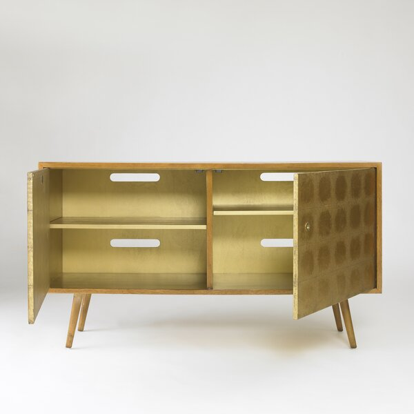 DwellStudio Franklin Gold Leaf Media Cabinet