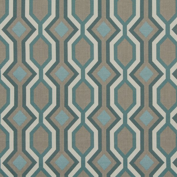 DwellStudio Diamond Vista Fabric - Turquoise