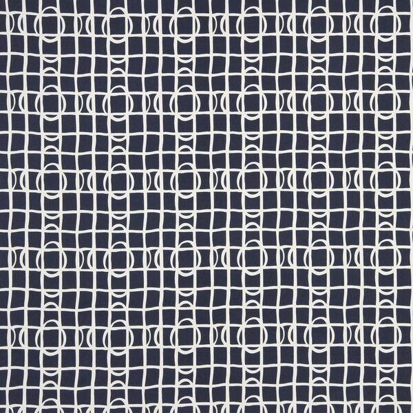 DwellStudio Lattice Graph Fabric - Ultramarine
