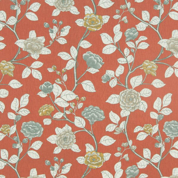 DwellStudio Leda Peony Fabric - Persimmon