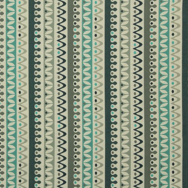 DwellStudio Nordic Stripe Fabric - Turquoise