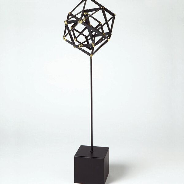 DwellStudio Tilted Cube Sculpture