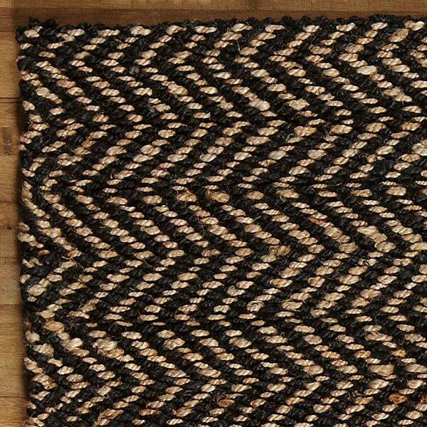 Birch Lane Sibley Jute Rug, Black