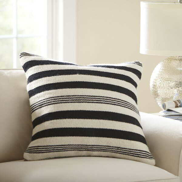 Birch Lane Edie Wool Pillow Cover, Black