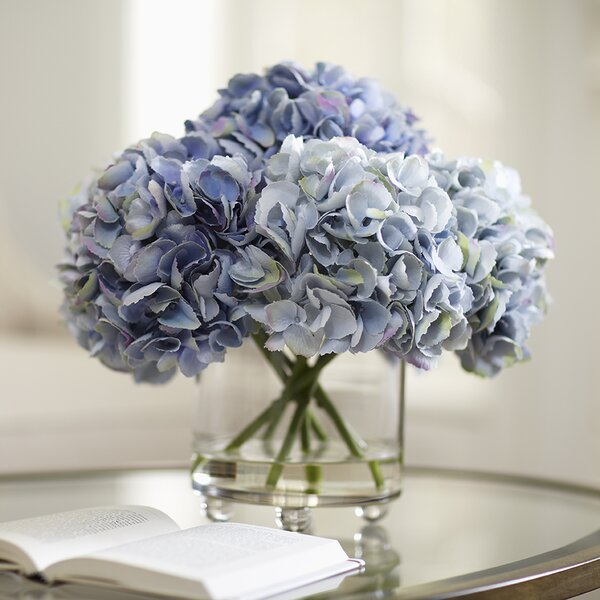 Birch Lane Faux Blue Hydrangea Arrangement Birch Lane