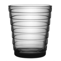 <strong></strong> Aino Aalto Short Tumbler in Grey by iittala (Set of 2)