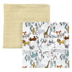 <strong></strong> Safari Swaddle Blanket (Set of 2)