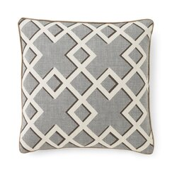 <strong></strong> Shadow Trellis Toffee Pillow
