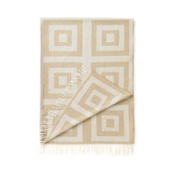 <strong>DwellStudio</strong> Concentric Squares Throw in Wheat