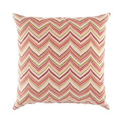 <strong></strong> Zig Zag Red Outdoor Pillow Cover