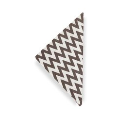 <strong></strong> Chevron Charcoal  Napkin (Set of 4)
