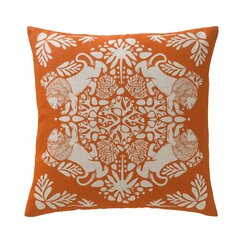 Lion Tangerine and Natural Pillow Cover
