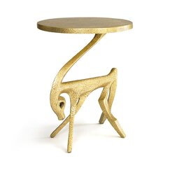 <strong></strong> Gazelle Antique Gold Side Table