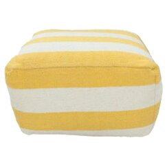 <strong></strong> Stripe Lemon Pouf