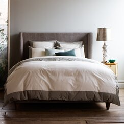 <strong>Modern Border Smoke Duvet Cover</strong>