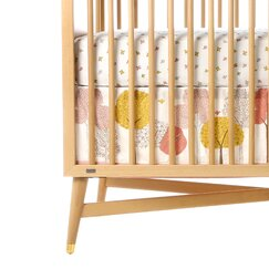 <strong></strong> Treetops Canvas Crib Skirt