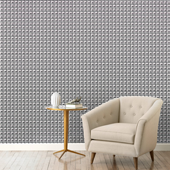<strong></strong> Deco Border Ink Wallpaper