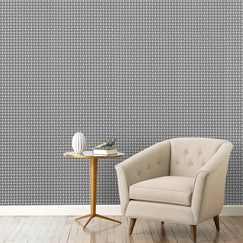 Knotted Trellis Ink Wallpaper