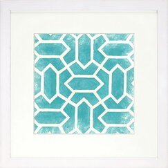 <strong>DwellStudio</strong> Graphic Pattern Azure Artwork
