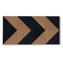 <strong></strong> 8 Piece Geometric Cork Board Tile Set (Set of 8)