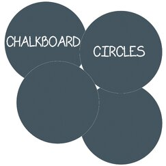 <strong></strong> Chalkboard Circle Wall Decal (Set of 4)