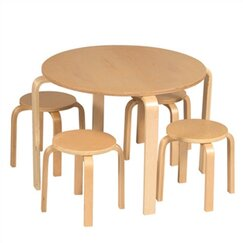 <strong></strong> Primary Natural Table & Stool Set