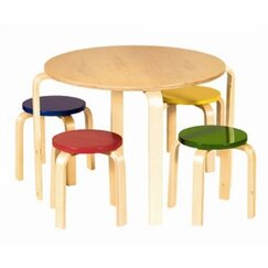 <strong>DwellStudio</strong> Primary Multi Table & Stool Set