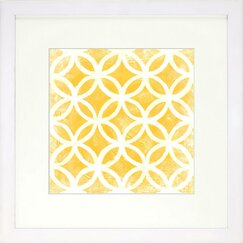 <strong>DwellStudio</strong> Graphic Pattern Citrine Artwork