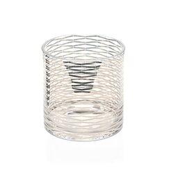 Silver Ribbons Glass Vase