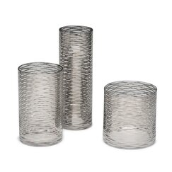 <strong>DwellStudio</strong> Silver Ribbons Glass Vase