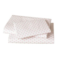 <strong></strong> Floral Dot Pale Rose Sheet Set