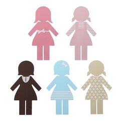 <strong></strong> Paper Dolls Wall Decal