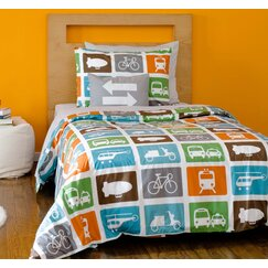 <strong></strong> Transportation Duvet Set