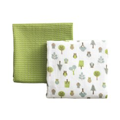 <strong></strong> Owls Multi Swaddle Blanket (Set of 2)