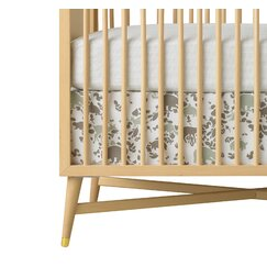<strong>Woodland Tumble Mocha Percale Crib Skirt</strong>