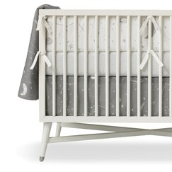<strong></strong> Galaxy Dove Percale Crib Skirt