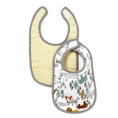 <strong></strong> Safari Muslin Bib (Set of 2)