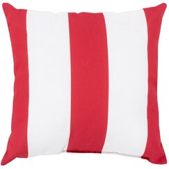 <strong></strong> Awning Stripe Crimson Outdoor Pillow