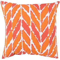 <strong>DwellStudio</strong> Arrow Outdoor Tangerine Pillow