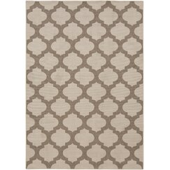 <strong>DwellStudio</strong> Modern Trellis Smoke Outdoor Rug