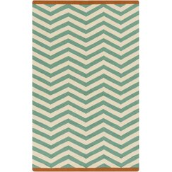 <strong></strong> Chevron Jade Outdoor Rug