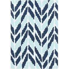 <strong>DwellStudio</strong> Arrow Aqua Outdoor Rug
