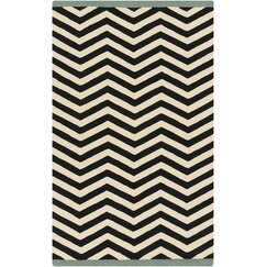 <strong></strong> Chevron Ink Outdoor Rug