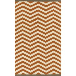 <strong></strong> Chevron Chestnut Outdoor Rug