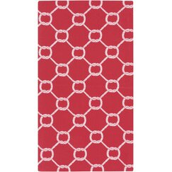 <strong>DwellStudio</strong> Rope Trellis Crimson Outdoor Rug