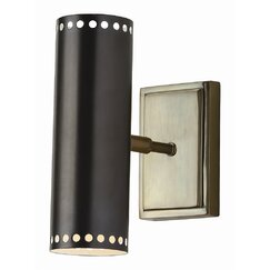 <strong></strong> Dotted Cylinder Indoor/Outdoor Sconce