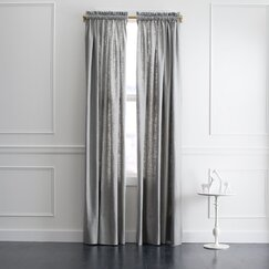 <strong></strong> Linen Slub Curtain Panel in Greystone