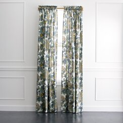 <strong></strong> Ming Dragon Curtain Panel in Midnight